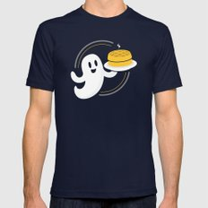 Ghost Waffles (Podcast) Mens Fitted Tee Navy SMALL