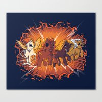 Four Little Ponies Of Th… Canvas Print