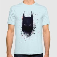 The Dark Knight Mens Fitted Tee Light Blue SMALL