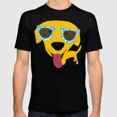 Labrador dog - Sunglasses Mens Fitted Tee Black SMALL