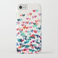 orange iPhone & iPod Cases featuring Heart Connections - watercolor painting by micklyn