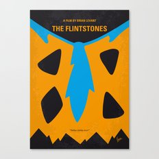 No669 My The Flintstones minimal movie poster Canvas Print