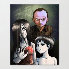 Japanese Family Portrait (呪怨) Canvas Print