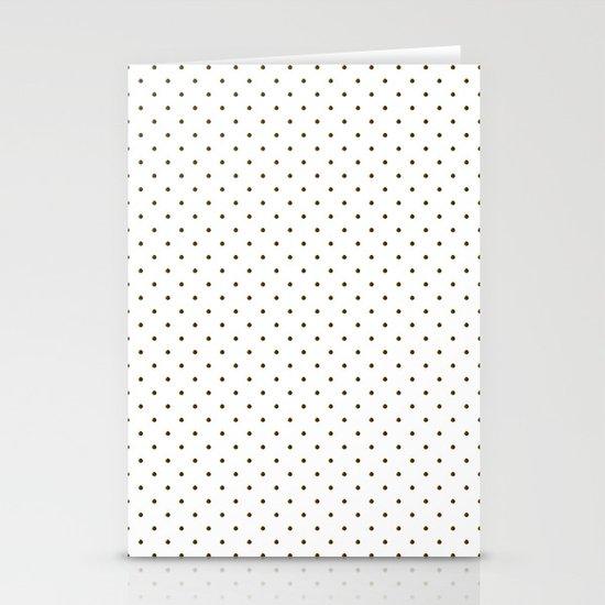 Black polka dots Stationery Card