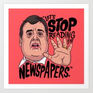 Art Print featuring Let's Stop Reading The N… by Chris Piascik