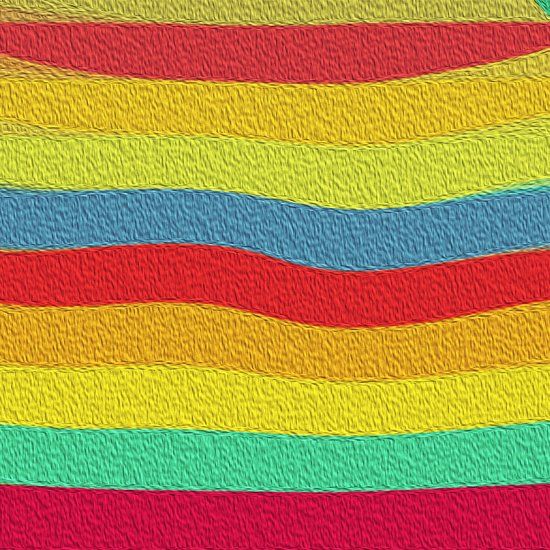 Bright Color Lineup Canvas Print