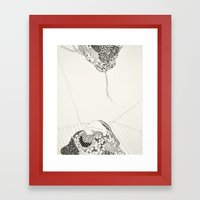 I always hoped my skin would grow inward Framed Art Print