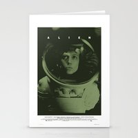 Alien Movie Poster Stationery Cards