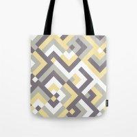 Yellow & Khaki Tote Bag