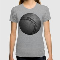 Baseball Womens Fitted Tee Athletic Grey SMALL