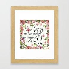 Love means art Framed Art Print