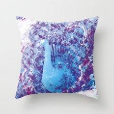 Withering Blue Bird Throw Pillow