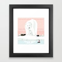 The White Bears and the Tin Soldier Framed Art Print