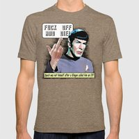 Spock.... Mens Fitted Tee Tri-Coffee SMALL