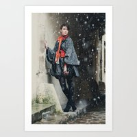 Snowscape V Art Print