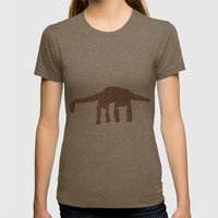 Long neck dino Womens Fitted Tee Tri-Coffee SMALL