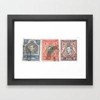 Stamps Framed Art Print