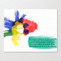 Be Daring Canvas Print