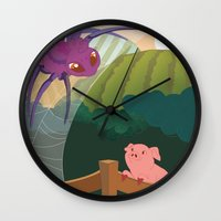 The Spider And The Pig Wall Clock
