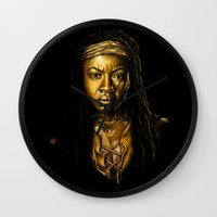 Michonne Golden Wall Clock