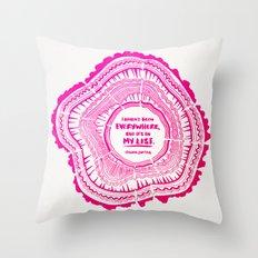 My List – Pink Ombré … Throw Pillow