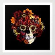 Full Circle...Floral Ohm… Art Print