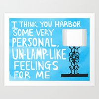 mindy project un-lamp-like feelings quote Art Print