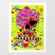 Skulls Dreams Art Print