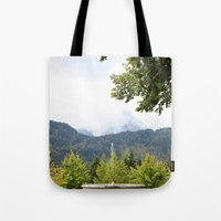 Fountain in the Mountains Tote Bag