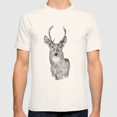Deer Mens Fitted Tee Natural SMALL