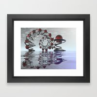 Surreal Christmas In The… Framed Art Print