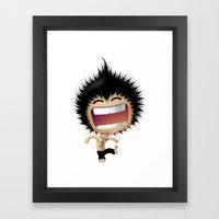 Mr. Zhong: Hahaha Framed Art Print