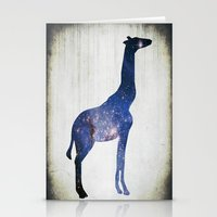 Sky-Giraffe  Stationery Cards