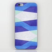 Abstract Purple Blue & Green iPhone & iPod Skin