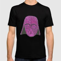 Darth Raspberry Mens Fitted Tee Black SMALL