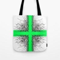 Modern Cross Tote Bag