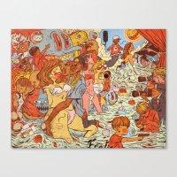 Milk & Blood Canvas Print