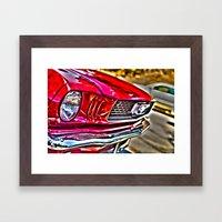 Mustang On Hollywood Hil… Framed Art Print
