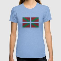 basque people ethnic flag spain Womens Fitted Tee Athletic Blue SMALL