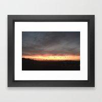 Fired Horizons Framed Art Print