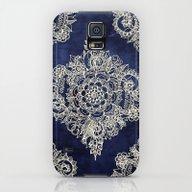 Cream Floral Moroccan Pa… Galaxy S5 Slim Case
