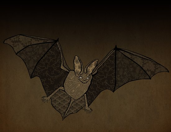 Batty Art Print