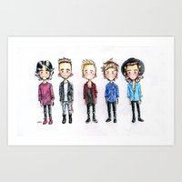 one direction Art Prints featuring One direction by levvelli
