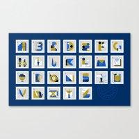 Post Alphabet Canvas Print