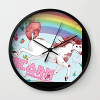 Unicorn: Destroyer Of Po… Wall Clock