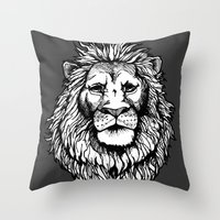 Lion (on dark) Throw Pillow