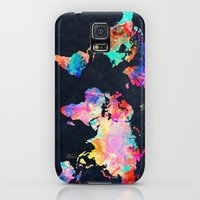 Galaxy S5 Cases featuring World map by Bekim ART