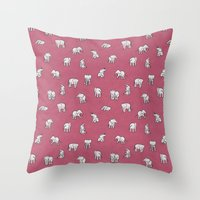 Indian Baby Elephants In… Throw Pillow