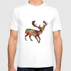 Oh deer ! SMALL White Mens Fitted Tee