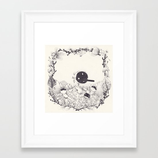 l'enfant loutre Framed Art Print